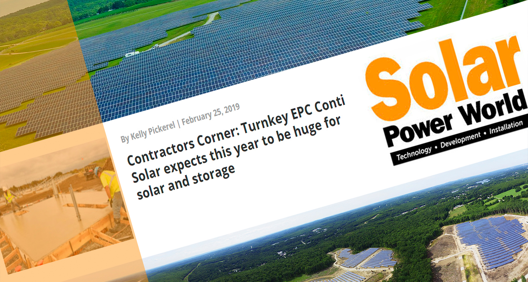 Conti Solar Presents on Solar Power World Podcast